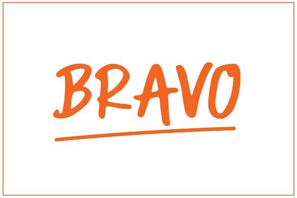 Bravo Fancy Typeface