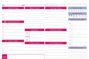 Daily Business Planner - Serenity