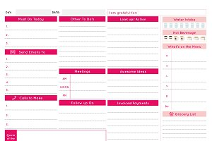 Daily Business Planner - Rose