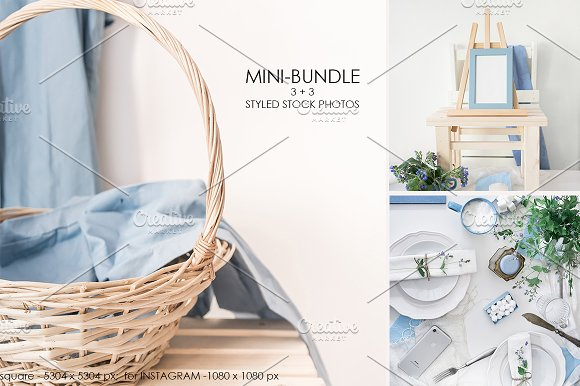 BLUE MINI-BUNDLE 3 PHOTOS