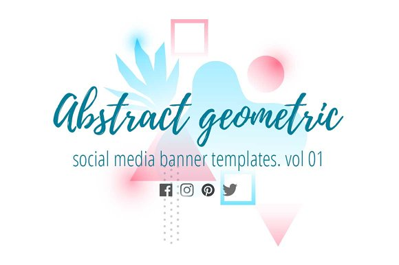 Abstract Geometric Banners 01