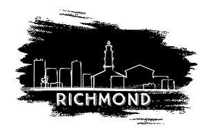 Richmond Skyline Silhouette.