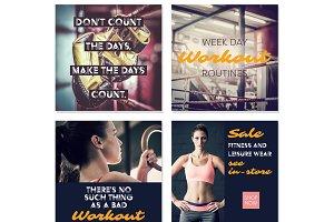 Fitness Social Media Posts