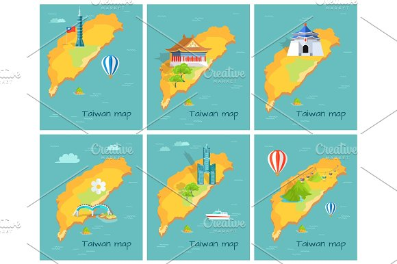 Concept Of Taiwan Map In Pacific Ocean Graphic