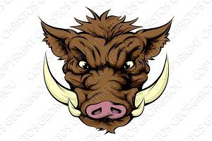 Boar sports mascot character