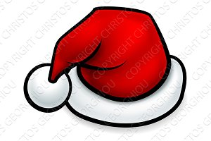 Cartoon Christmas Santa Hat