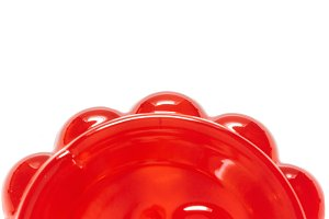 Strawberry jelly isolated