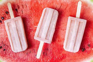 Watermelon popsicles.