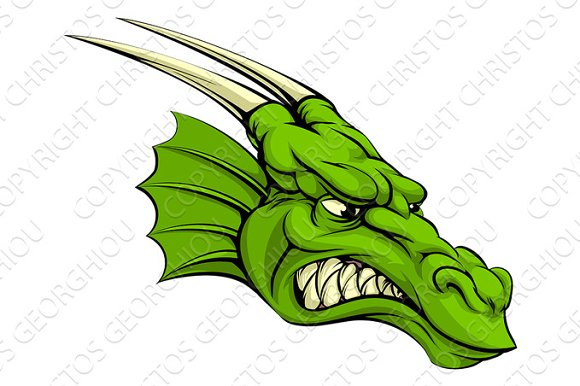 Green Dragon Mascot
