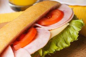 Breakfast with a sandwich