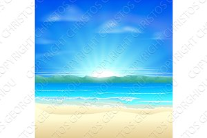 Summer sand beach background