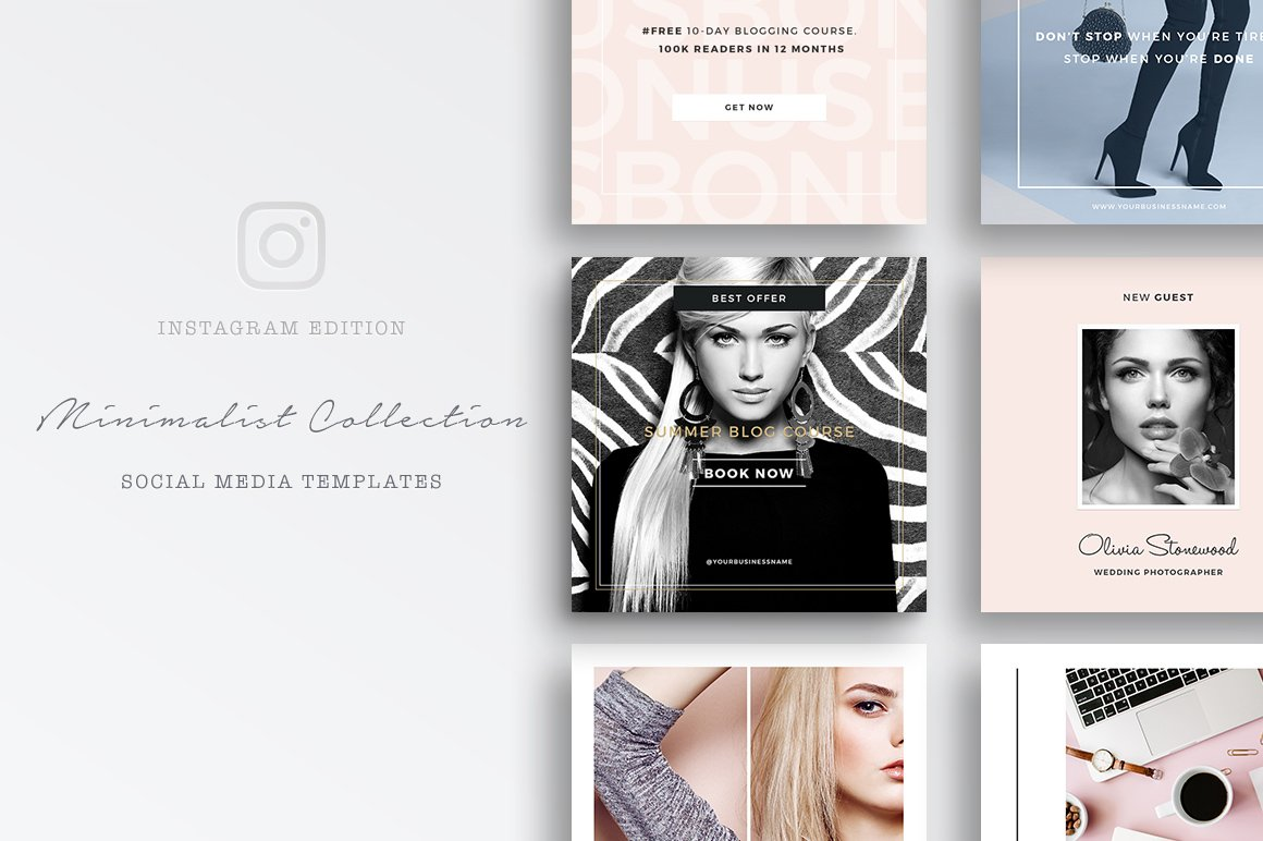 social media template for instagram instagram templates creative market