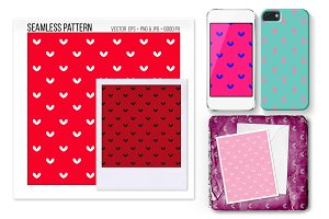 Seamless Heart Vector Pattern.
