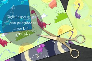 Dinosaurs printable paper pack