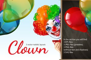Clown Realistic Set