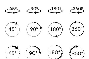 Angles vector icons set