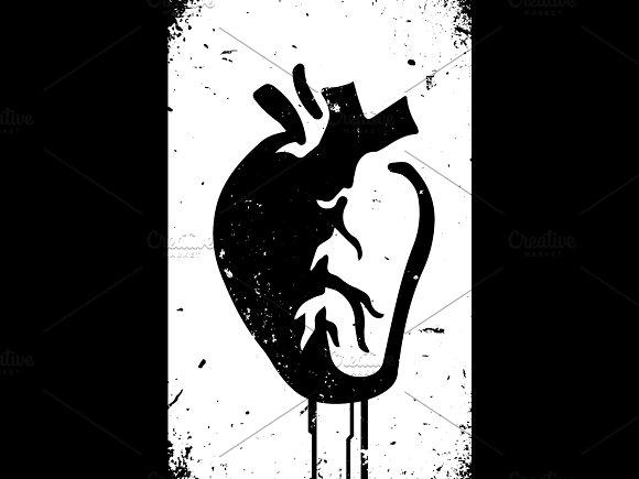 Anatomical Heart Urban Style Vector