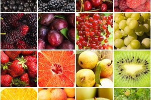 Various fruits berries