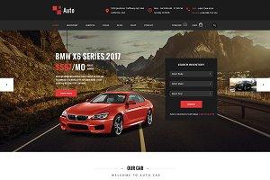 Auto - Modern car rental service PSD