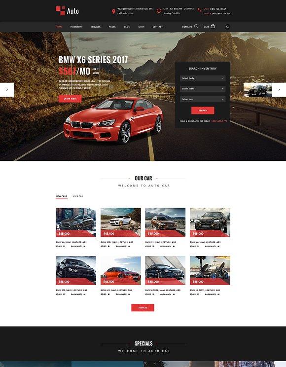 Auto Modern Car Rental Service PSD