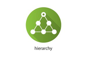 Hierarchy flat design long shadow icon