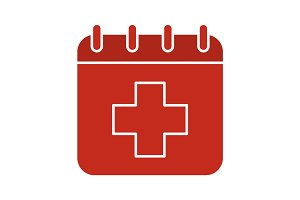 World Health Day glyph color icon