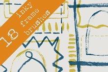 18 Inky Frame Brushes
