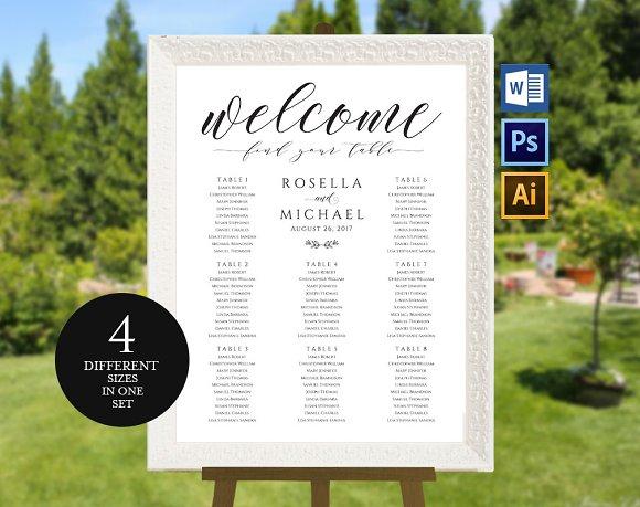Wedding Seating Chart Wpc160