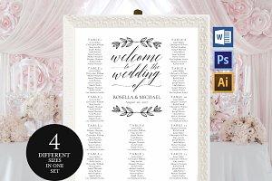 Wedding seating chart Wpc162