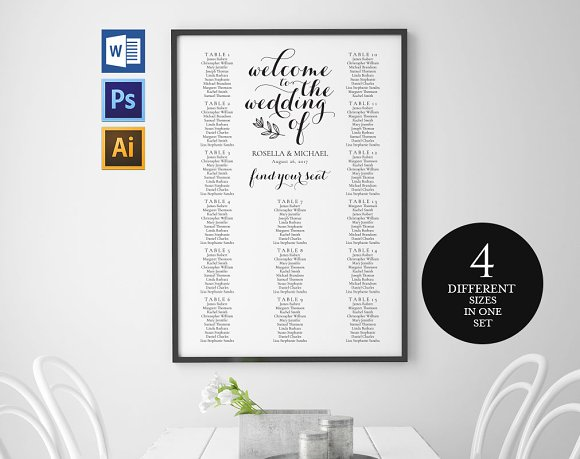 Wedding Seating Chart Wpc163