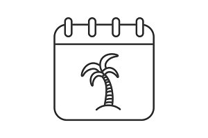 Vacations linear icon