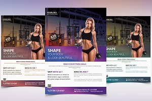 Fitness & Gym - PSD Flyer Template