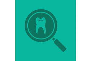 Dentist search glyph color icon