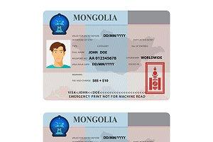 Mongolian visa template