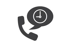 Phone talk duration glyph icon