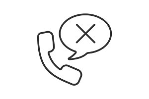 Rejected phone call linear icon