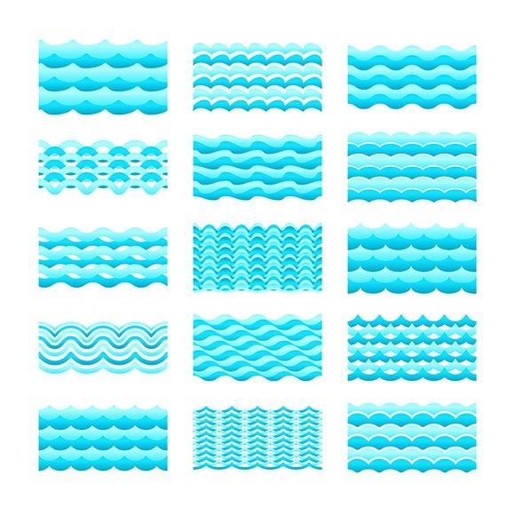 Seamless Gradient Water Pattern Tile