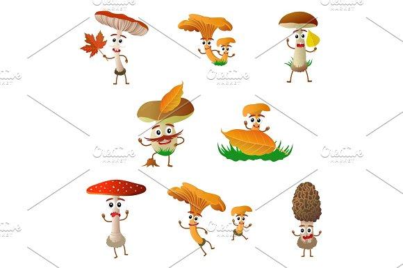 Mushroom Cartoon Character