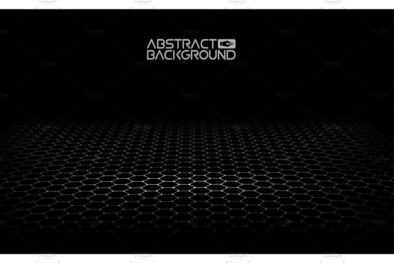 Black Hexagonal Background Vector Illustration Dark