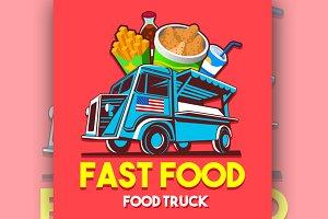 Fast Food Logo Street Food Truck