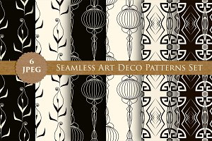 ART DECO seamless patterns set