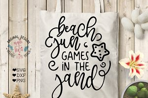 Beach, sun, games in the sand