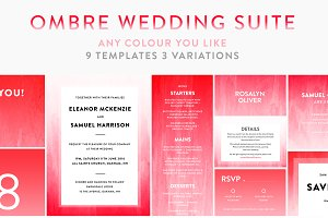 Watercolor Wedding Template Bundle