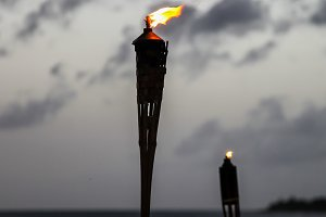 torch on beach
