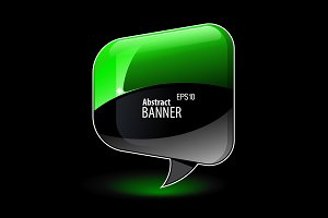Shiny gloss green banner