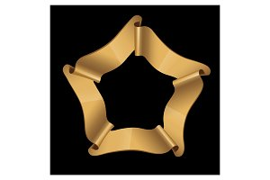 Gold glossy ribbons