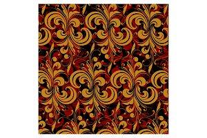 Darck floral pattern