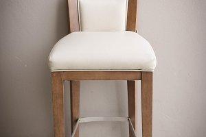 wood chair vintage in living room