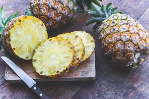 pineapple fruit for health on table