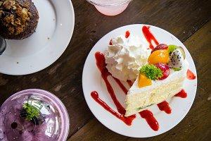 fruit cake tasty dessert